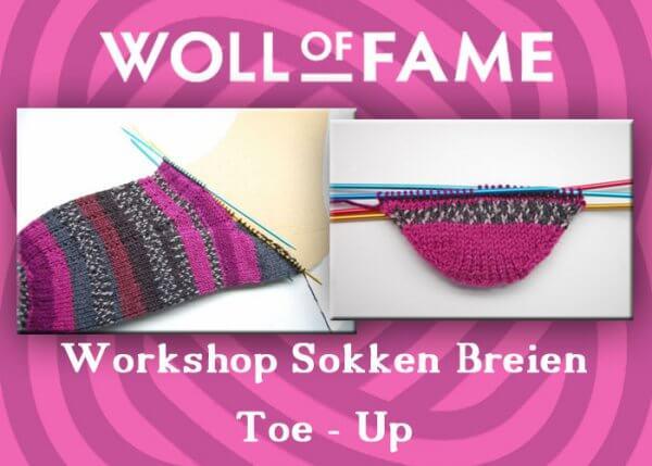 workshop sokken breien toe up start 9 februari en vervolg op 16 februari 2019