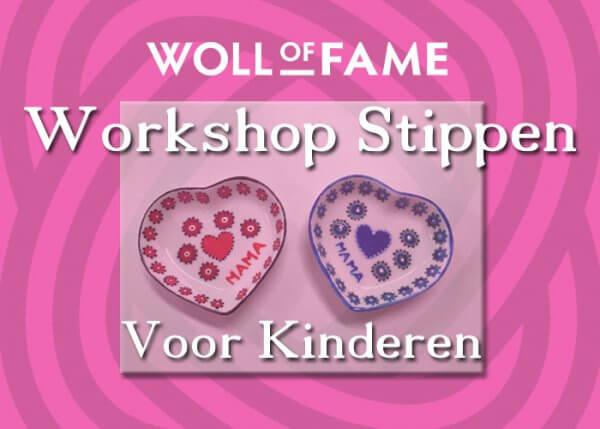 workshop stippen voor kinderen op 20 april