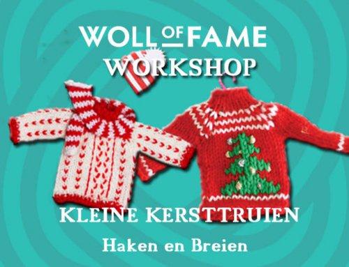 WORKSHOP KLEINE KERSTTRUIEN HAKEN EN BREIEN OP 7 DECEMBER